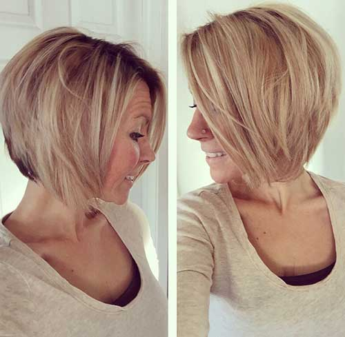 Pictures Of Medium Hairstyles For 2017 : Short layered bob hairstyles