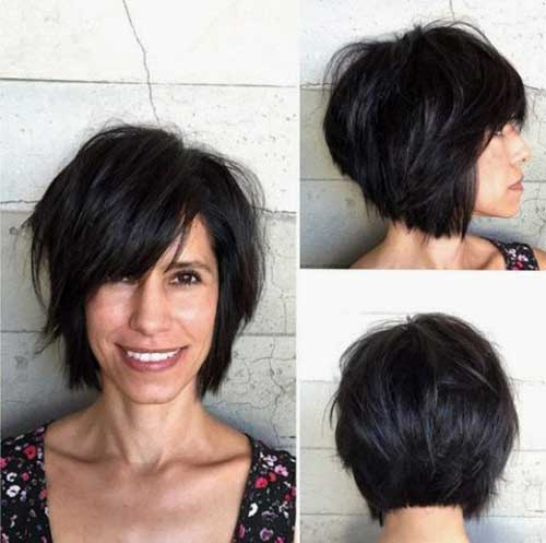 Short Messy Dark Bob Hairstyles