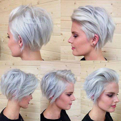 Short Silver Bob Hairstyles for Women