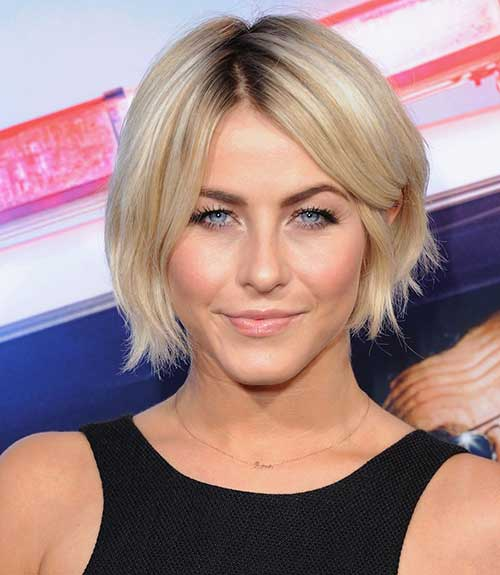 Short Thin Blonde Bob Haircut 2015