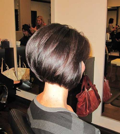 Stacked Brown Bob Hair