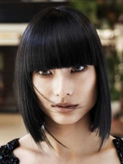 Best Straight Blunt Bob with Bangs