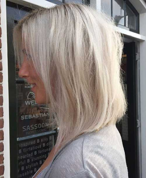 Stylish Blonde Long Bob Hair