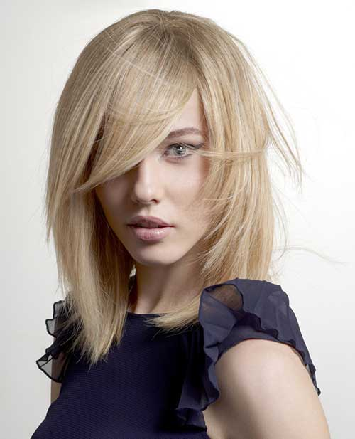 Tapered Blonde Long Bob Hairstyle