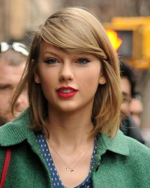 Taylor Swift Fine Bob Hair