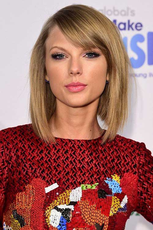Taylor Swift Bob with Bangs 2015