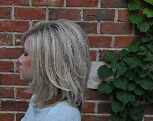 Thick Cute Layered Blonde Bob Hair