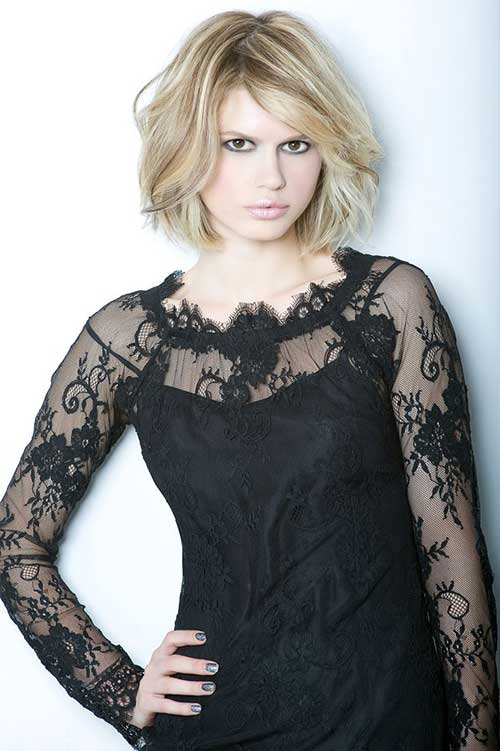 Thick High Low Blonde Bob Haircuts