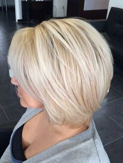Thick Platinum Blonde Layered Bob Hairstyles