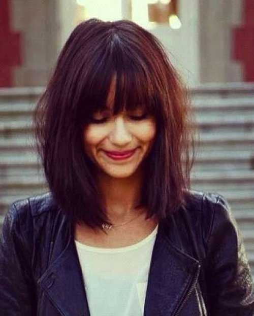 25 bob haircuts with bangs bob hairstyles 2017 short - Long bob braun ...