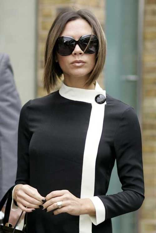 Victoria Beckham Brown Bob Hair Color