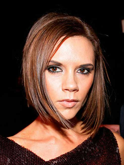 Victoria Beckham Dark Bob Hair Color