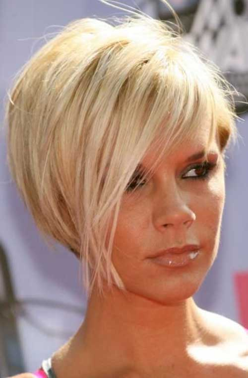 Victoria Beckham Short Blonde Bob Hair