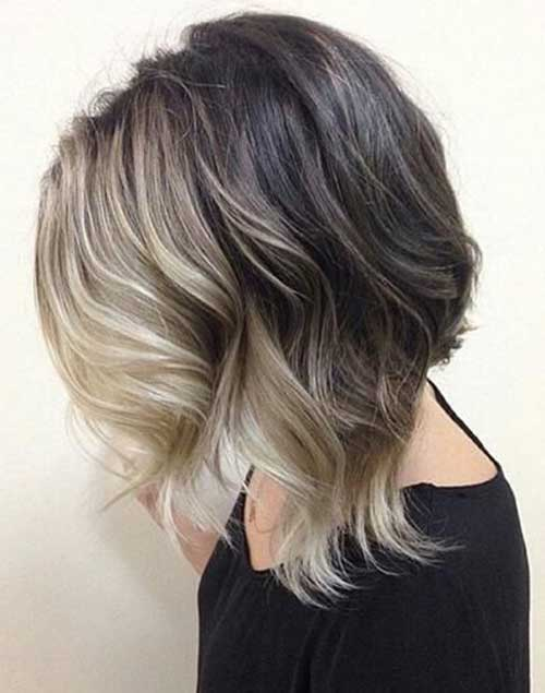 Wavy Long Balyage Bob Hairstyles