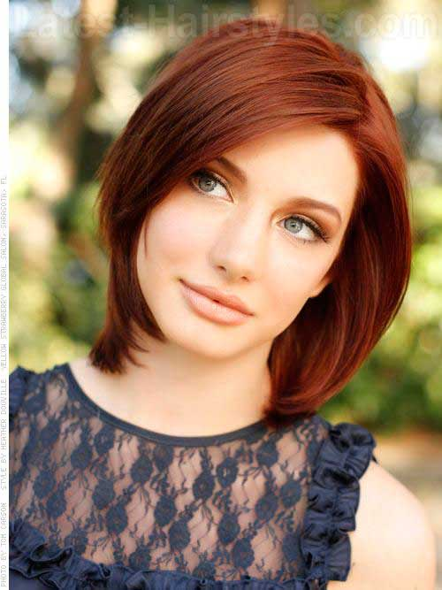 Bob Hairstyles with Side Bangs-12