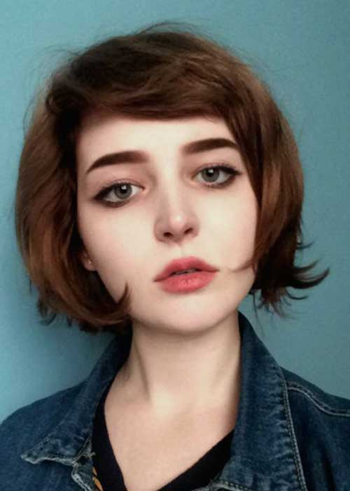 Bob Hairstyles with Side Bangs-15