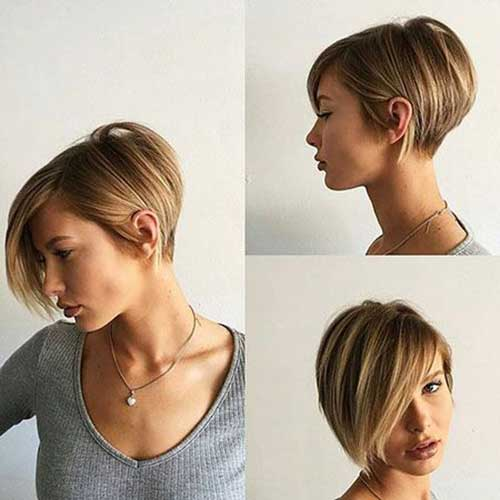 Bob Haircut with Side Bangs