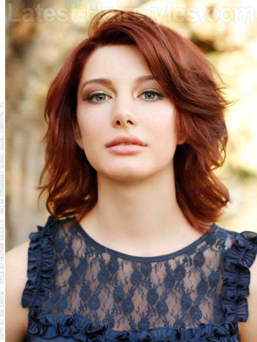 Bob Hairstyles with Side Bangs