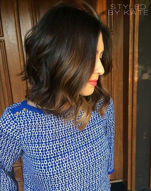 Long Bob Brown Hair-10