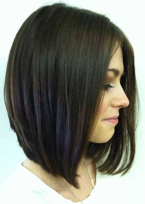 Dark Brown Bob Hair-11