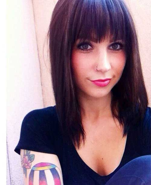 Dark Brown Bob Hair-19