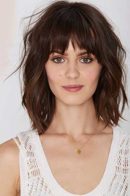 Medium Bob With Bangs-19