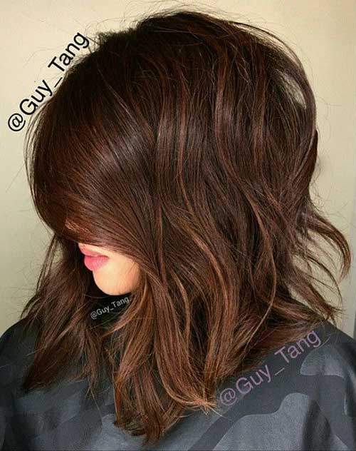 Long Bob Brown Hair-7
