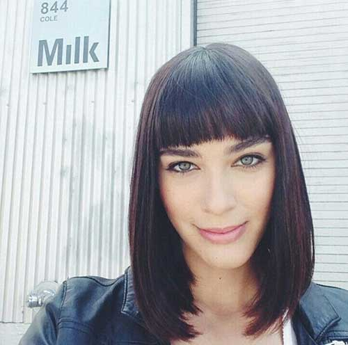 Bob Haircut With Bangs 2016