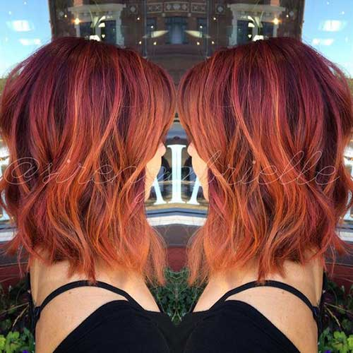 Red Bob Haircut