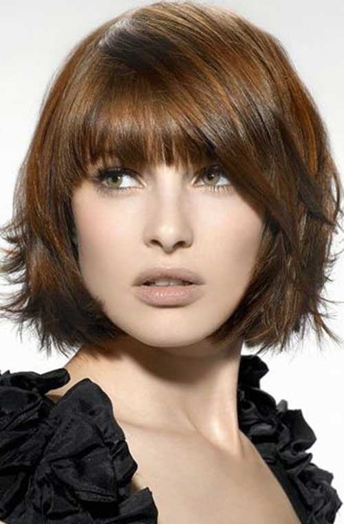 Short Bob Hairstyles With Bangs-14