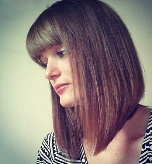 Short Bob Hairstyles With Bangs-17