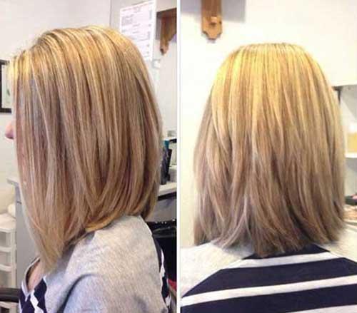 Frisuren Long Bob Blond Mittellange Haare