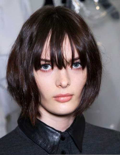 Short Bob Hairstyles With Bangs-29