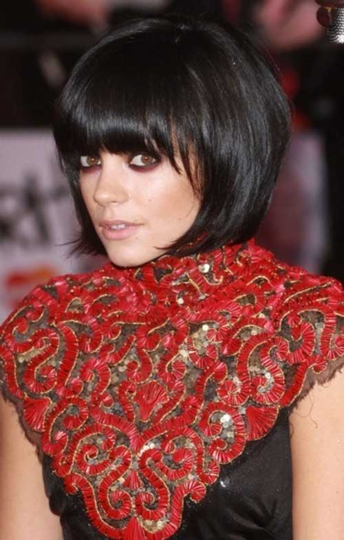 Short Bob Hairstyles With Bangs-32