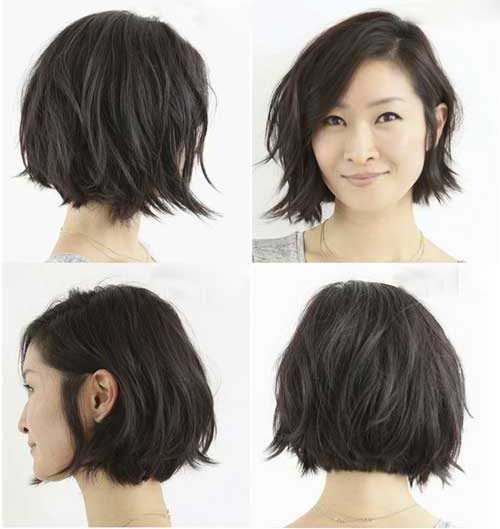 Short Layered Bob Haircuts-6