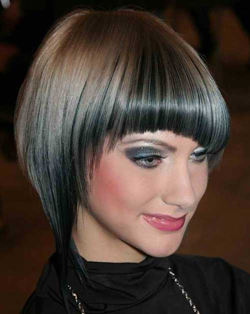 Angled Bobs Bangs Bob Hairstyles Short