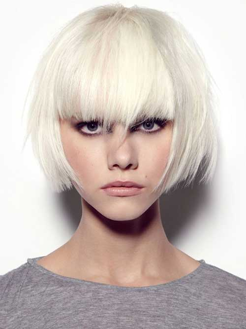 Short Bob Hairstyles With Bangs-8