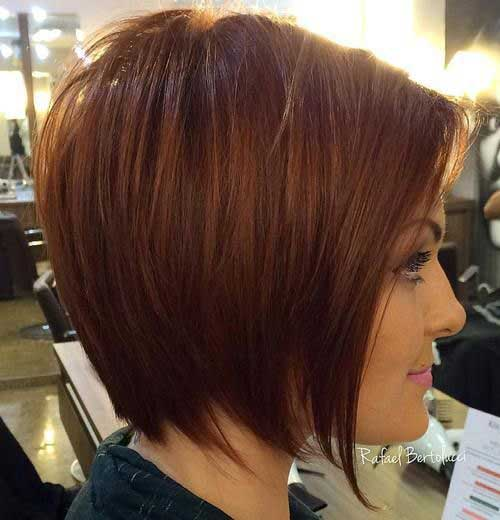 Short Layered Bob Haircuts-8