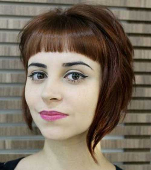 Angled Bob Haircuts With Bangs