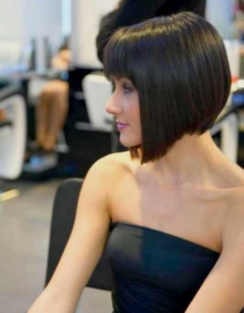 half hairstyles : Half Shaved Bob Hairstyle Bob Hairstyles 2015 - Short Hairstyles for ...
