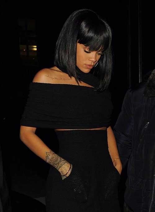 Rihanna Bob Haircut-10