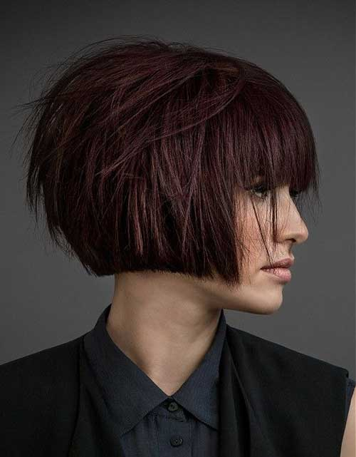 Bob Hairstyles with Bangs-11