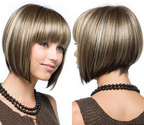 Inverted Bob with Bangs-21