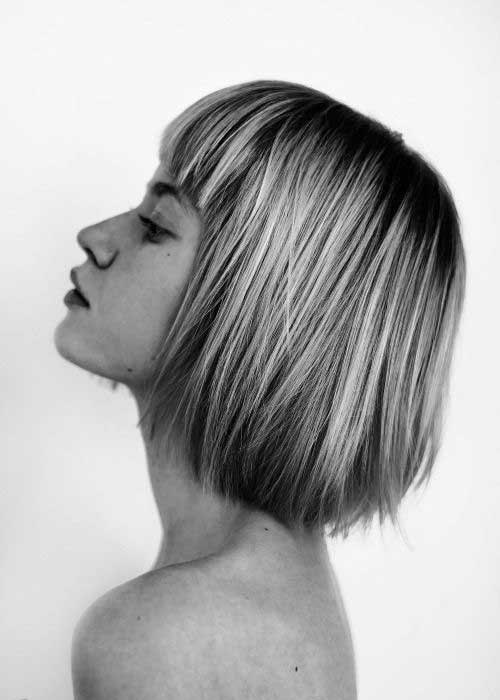 Bob Hairstyles with Bangs-6