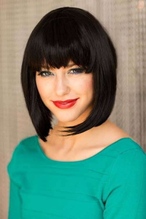 Inverted Bob with Bangs-7