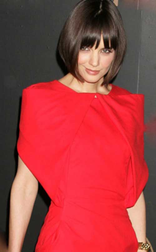 Katie Holmes Bob with Bangs-7