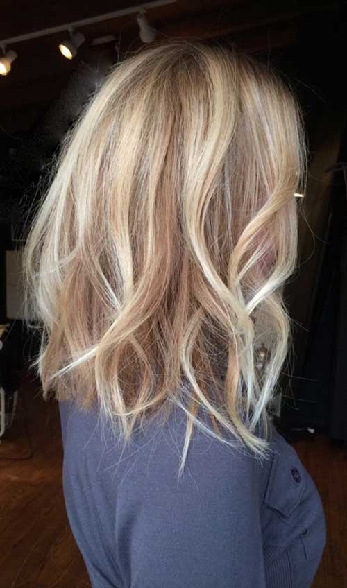 Light Reddish Blonde Hair 30+ Super Long Bob Hai...