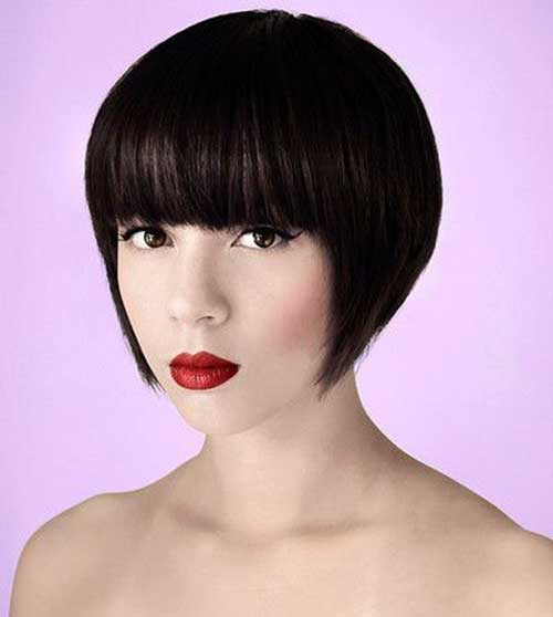30 Best Inverted Bob With Bangs Bob Hairstyles 2018 Short