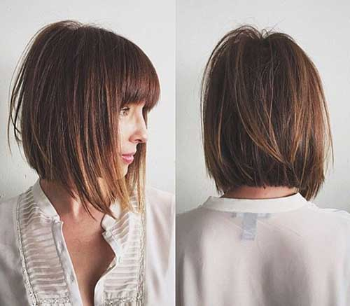 Inverted Bobs with Bangs