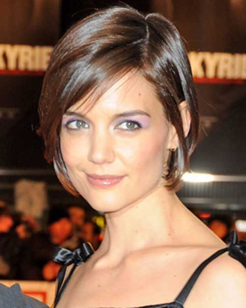 Katie Holmes Bob Haircut with Bangs